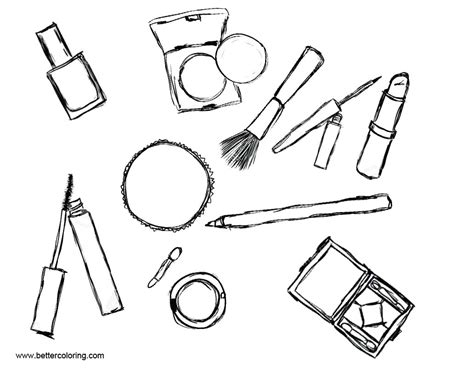 makeup coloring pages makeup coloring pages cosmetics free printable coloring