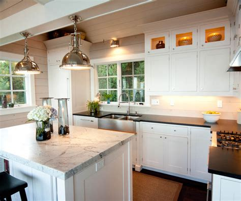dual farmhouse sink traditional kitchen mitch wise dual apron sink cottage kitchen mitch wise design