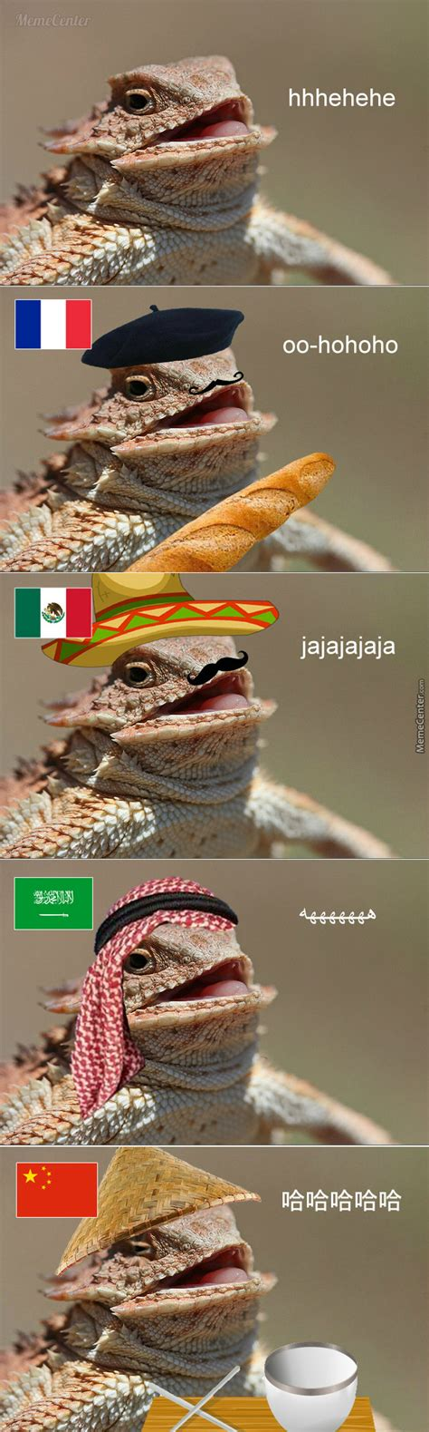 Laughing Lizard Meme - laughing lizard in different countries by bakoahmed meme