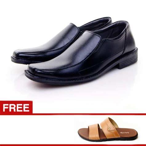 Leogaren Sepatu Formal Hitam 1101 salvo sepatu formal pria sepatu formal kulit sepatu