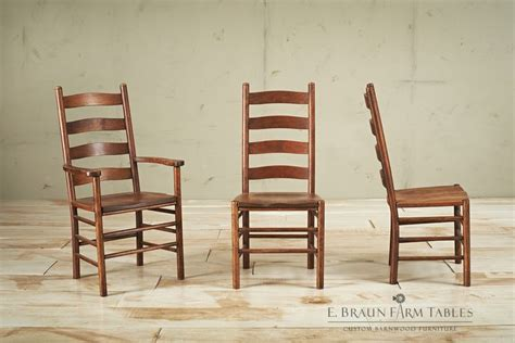 solid oak ladder back chairs shaker ladder back chairs with button tops crafted of