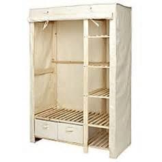 wardrobe canvas polycotton and wood set wood