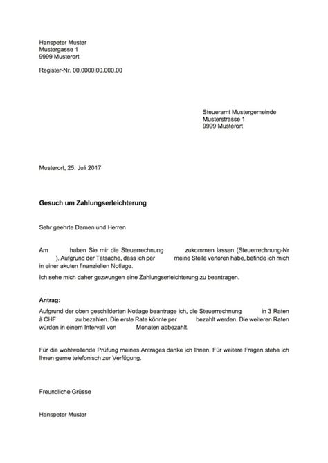 Muster Leihvertrag Schweiz zahlungserleichterung vorlage muster und vorlagen kostenlos