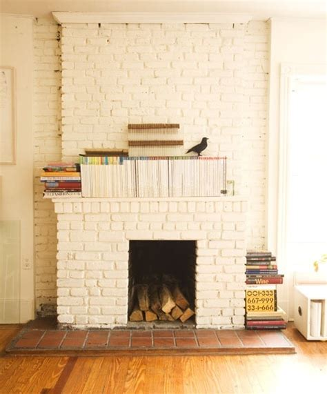 White Brick Fireplaces by White Painted Brick Fireplace Kenton Way