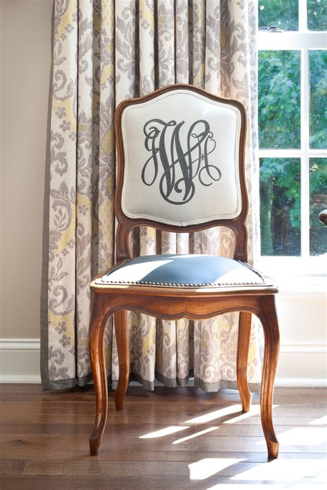 Monogrammed Chairs by Embroidered Monogrammed Dining Chairs