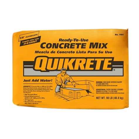 quikrete 90 lb concrete mix 110190 the home depot