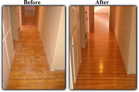 Refinished Hardwood Floors Before And After Before And After Hardwood Floor Refinishing Turning Stained Boards