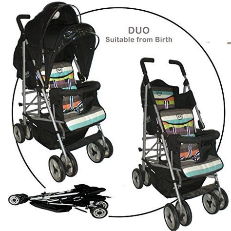 double stroller reclining seats duo double buggy twin 2 tandem pushchair stroller 2 seat