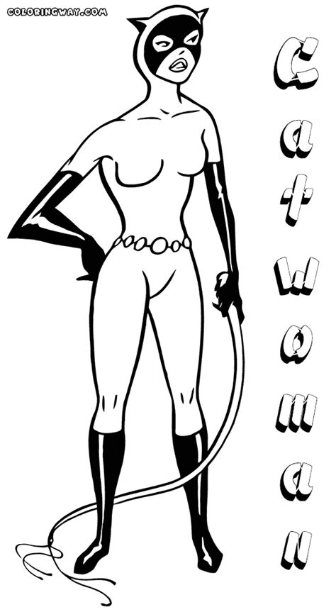 coloring page catwoman catwoman coloring pages coloring pages to download and print