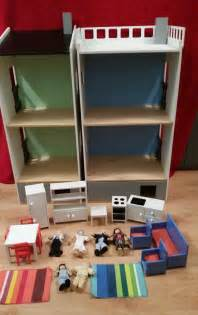 ikea dolls house vintage ikea doll house 2x lillabo houses with miniature furniture six dolls 163