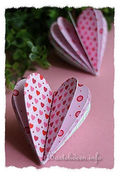 Coole Sachen Aus Papier by Basteln Zum Valentinstag 3d Scrapbookpapier Herz