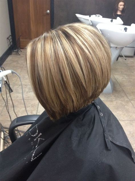bob hair with high lights and lowlights honey blonde with a warm neutral lowlight haircut is a