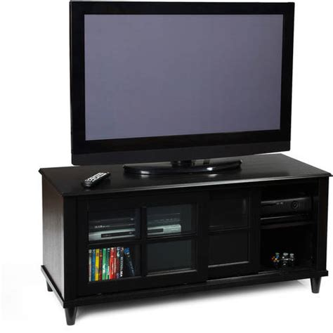 convenience concepts country black tv stand for