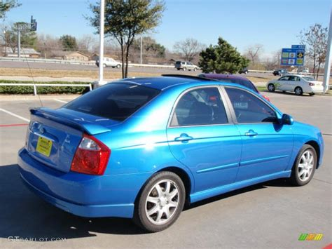 2006 Kia Spectra Sx 2006 Spark Blue Kia Spectra Sx Sedan 2813081 Photo 3