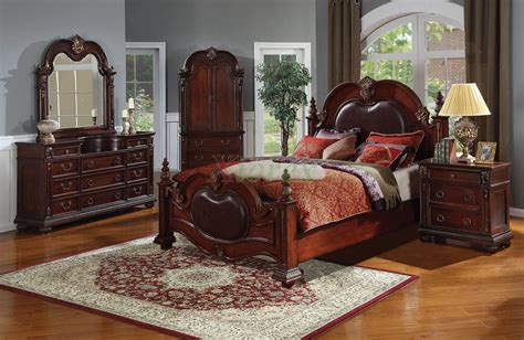 Leather Headboard Bedroom Set by Poster Bedroom Furniture Set With Leather Headboard 121