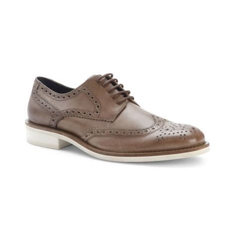 kenneth cole shoes kenneth cole wing tip oxford shoes in brown for khaki