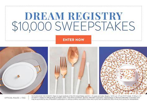 Martha Stewart Wedding Sweepstakes - dream registry 10 000 sweepstakes martha stewart weddings