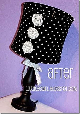 How To Recover L Shades by Pink Black L Shades And Polka Dots On