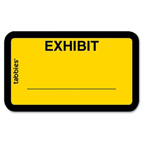 exhibit label template printer