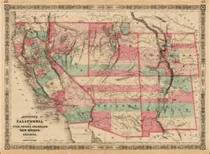 johnson s california with territories of utah nevada