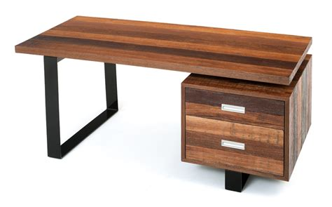 Handmade Office Furniture - soft modern desk contemporary rustic desk reclaimed wood