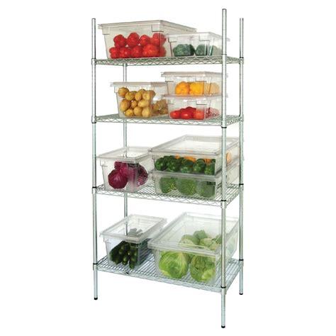 4 tier wire shelving kit kitchen storage 1525x 460mm ebay