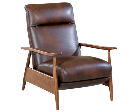modern recliners leather a modern recliner take on mid century design club furniture