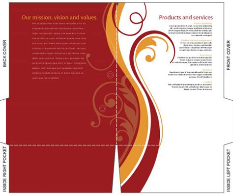free illustrator templates company folder brochures