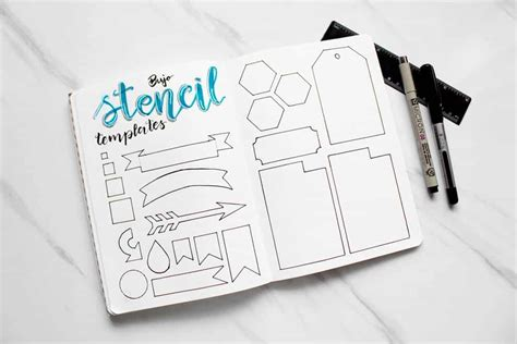 bullet journal stencil diy tutorial