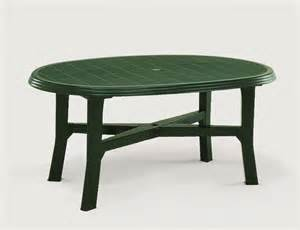 table de jardin plastique verte