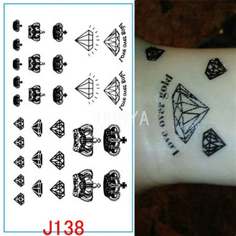 henna tattoo price list black diamonds crowns flash temporary tattoos