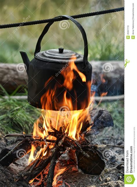 Kettle On A Fire Stock Photo   Image: 26307110