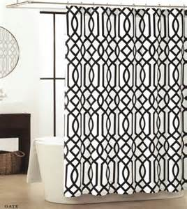 Black And White Lattice Curtains Buy Max Studio Home Fabric Shower Curtain Modern Quatrefoil Black And White Lattice In Cheap