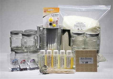 L Kits For Jars by Deluxe Soy Container Candle Kit Candlesoylutions