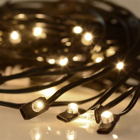 led patio lights 40 led solar string light fit 8 rib 8ft 9ft wooden outdoor