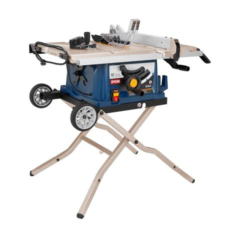 ryobi bench saw ryobi reconditioned 10 in table saw with wheel stand