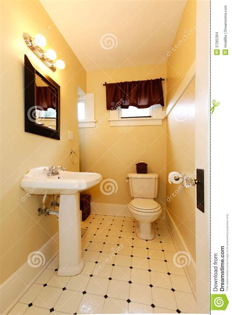 decorated elegant bright bathroom stock photo image