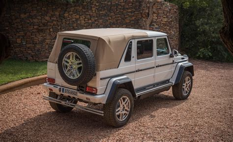 maybach mercedes white 2018 mercedes maybach g650 landaulet white exterior rear