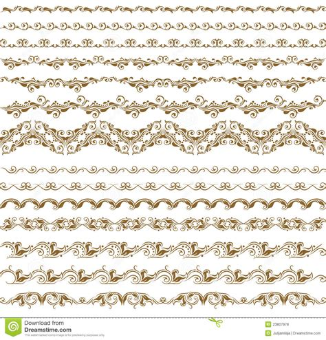 set of vector graphic elements royalty free stock photos set of vector borders decorative elements royalty free