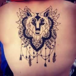 Black henna wolf tattoo by lycantheran d6zqbo6