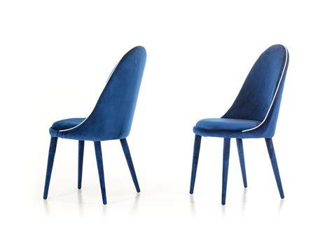 klamath modern blue white fabric dining chair set of 2