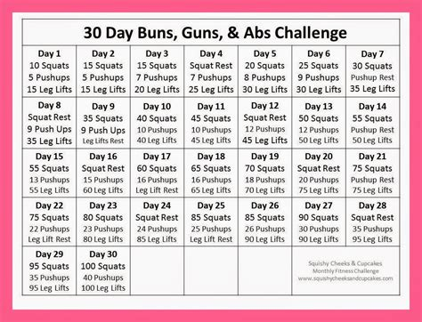 30 day ab challenge images 30 day ab challenge calendar images workout plans