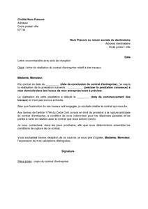 Fin De Lettre Entreprise Modele Lettre Licenciement Fin De Chantier