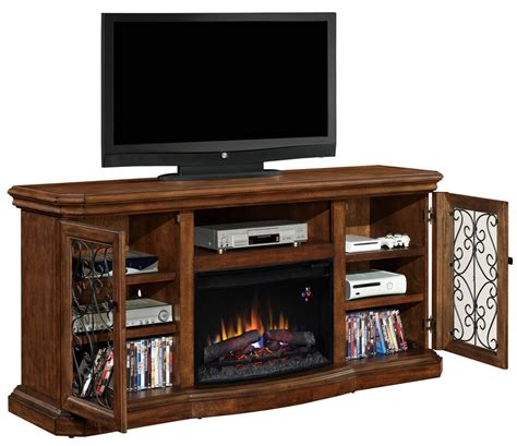 Entertainment Center With Electric Fireplace Beauregard Electric Fireplace Entertainment Center In Antique Caramel 25mm5045 C326