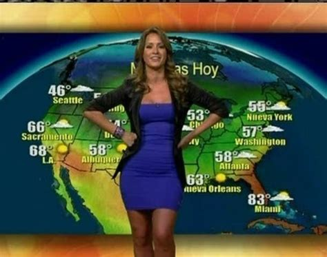 weather channel girls striping on tv univisi 243 n weather girl chiquinquira delgado weather girl