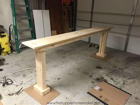 diy console table    happier homemaker