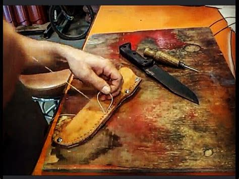 becker bk7 leather sheath how to make a simple leather sheath for becker bk7 knife