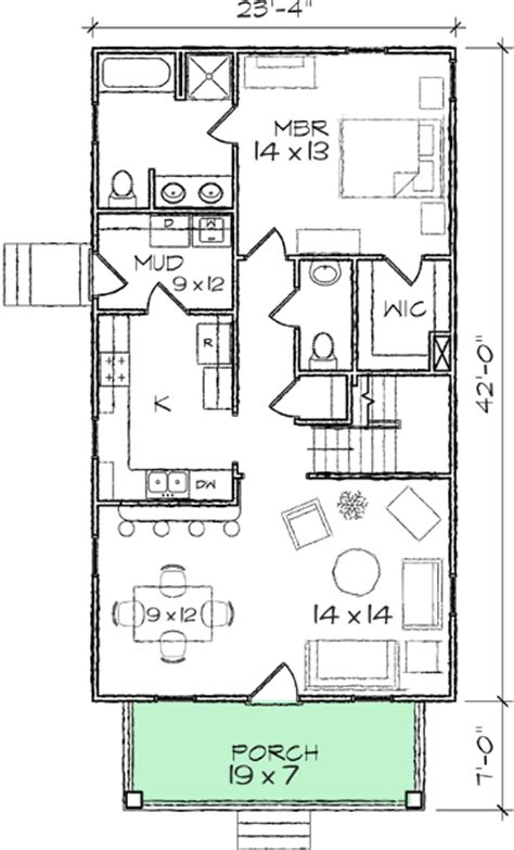 narrow lot bungalow house plans narrow lot bungalow home plan 10030tt 1st floor master suite cad available