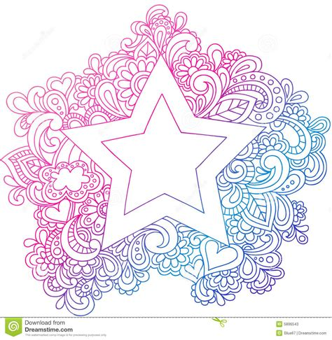 doodle 4 outline psychedelic outline vector illustration stock photos
