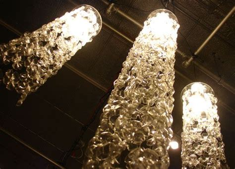Recycled Water Bottle Chandelier Recycled Bottle Cascade Chandelier Sustainable Design Water Bottles And Bottle Chandelier